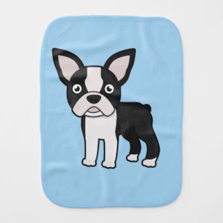 Cute Boston Terrier Burp Cloth