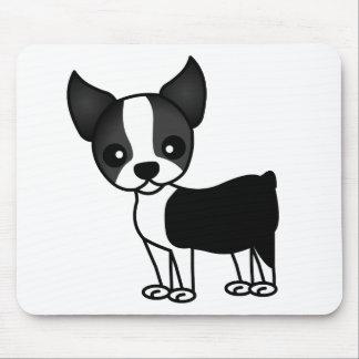 Cute Boston Terrier Cartoon Mouse Pad