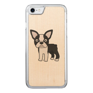 Cute Boston Terrier Carved iPhone 8/7 Case