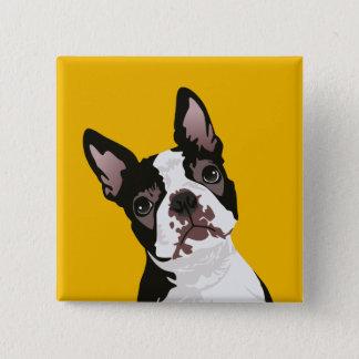 Cute Boston Terrier Dog for Boston Terrier Owner 15 Cm Square Badge
