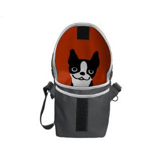 Cute Boston Terrier Inside - Custom Colors Commuter Bag