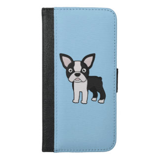 Cute Boston Terrier iPhone 6/6s Plus Wallet Case