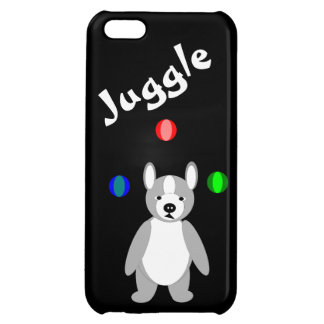 Cute Boston Terrier Juggling puppy Cover For iPhone 5C