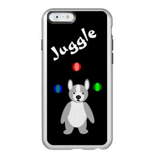 Cute Boston Terrier Juggling puppy Incipio Feather® Shine iPhone 6 Case