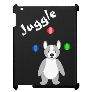 Cute Boston Terrier Juggling puppy iPad Cases