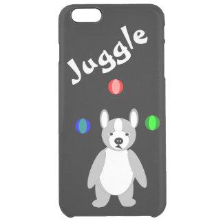 Cute Boston Terrier Juggling puppy iPhone 6 Plus Case
