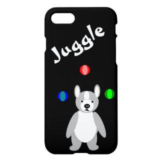 Cute Boston Terrier Juggling puppy iPhone 7 Case