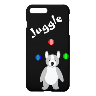 Cute Boston Terrier Juggling puppy iPhone 7 Plus Case