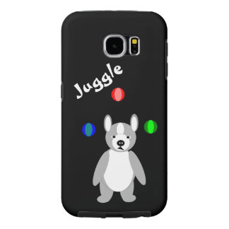 Cute Boston Terrier Juggling puppy Samsung Galaxy S6 Cases