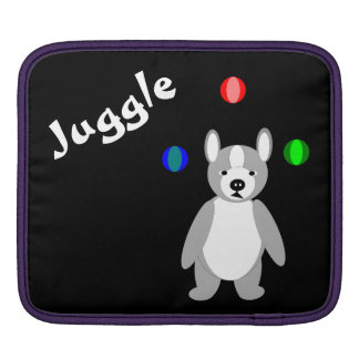 Cute Boston Terrier Juggling puppy Sleeves For iPads