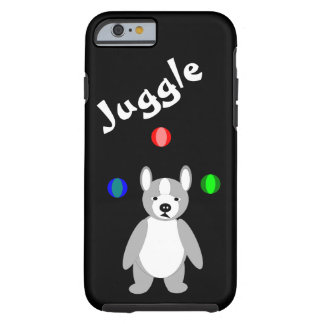 Cute Boston Terrier Juggling puppy Tough iPhone 6 Case