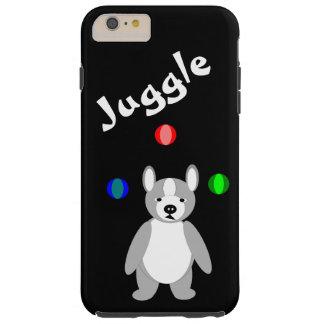 Cute Boston Terrier Juggling puppy Tough iPhone 6 Plus Case
