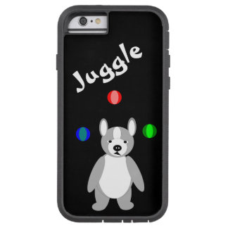 Cute Boston Terrier Juggling puppy Tough Xtreme iPhone 6 Case