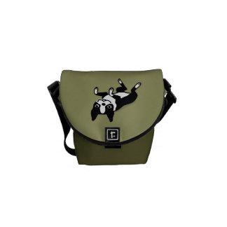 Cute Boston Terrier Messenger Bag