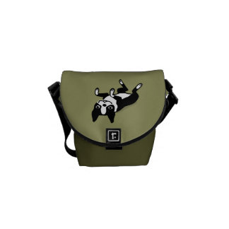 Cute Boston Terrier Messenger Bags