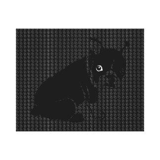 Cute Boston Terrier puppy Canvas Print