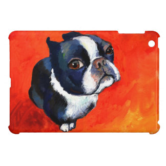 Cute Boston Terrier puppy dog gifts iPad Mini Case