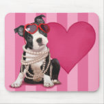 Cute Boston Terrier Puppy Mousepad