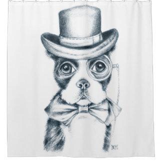 Cute Boston Terrier Shower Curtain