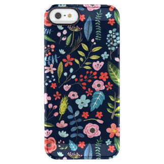 Cute Botanical Flowers & Leafs Pattern Clear iPhone SE/5/5s Case