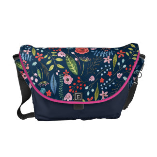 Cute Botanical Flowers & Leafs Pattern Commuter Bags
