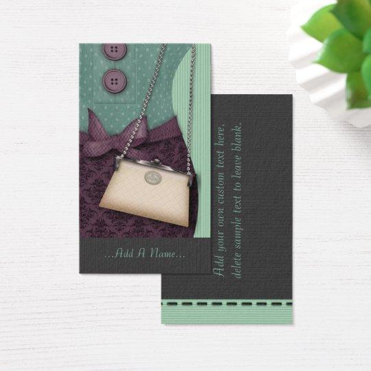 Cute Boutique Retro Outfit and Handbag Business Card