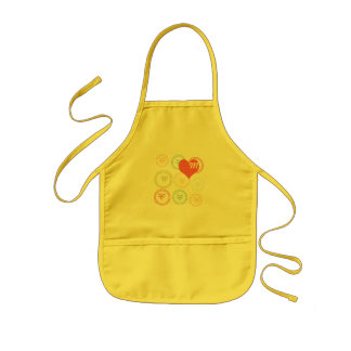 Cute Bow Hearts Kids Party Apron