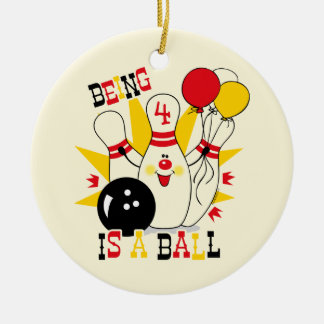 Cute Bowling Pin Birthday Keepsake Ornament