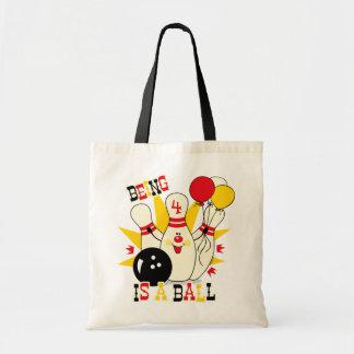 Cute Bowling Pin Birthday Tote Bag