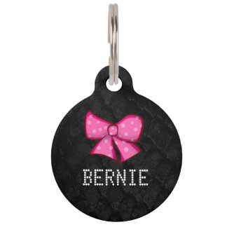 Cute Bows Customisable Pet Tags