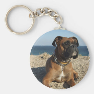 Cute Boxer Dog Keychain