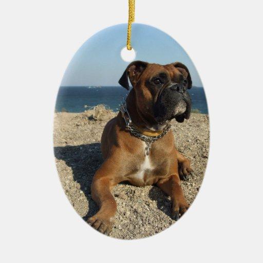 Cute Boxer Dog Ornament
