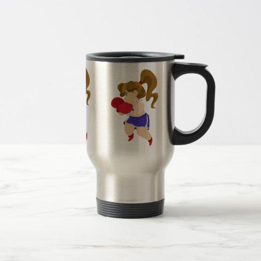 Cute Boxer Girl Coffee Mug