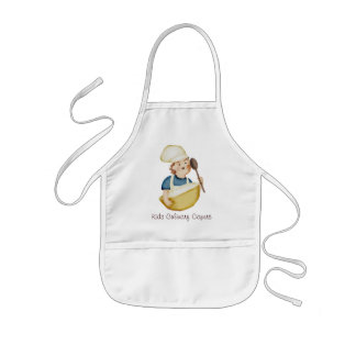 cute boy chef hat mixing bowl kids cooking clas... kids apron