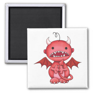 cute boy devil magnet