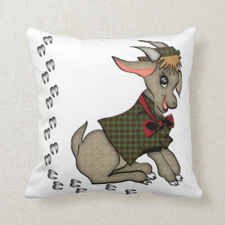 Cute Boy Goat with Jacket and Hat Pillow