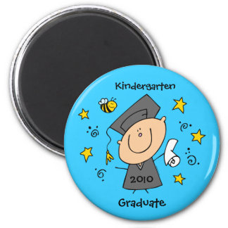 Cute Boy Grad Custom 6 Cm Round Magnet
