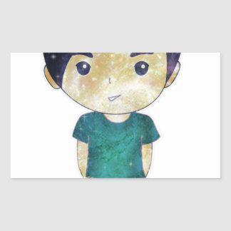 Cute Boy (Universe) Rectangle Sticker