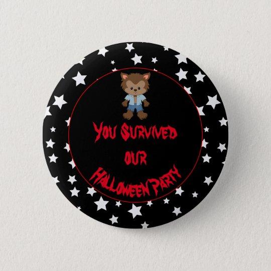 Cute Boy Werewolf Halloween Party 6 Cm Round Badge