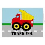 Cute Boy's Dump Truck Thank You Cards