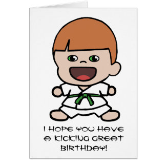Cute Boy's Karate Birthday Card