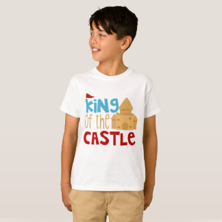 Cute boys king of the sand castle t-shirt