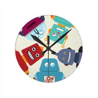cute boys nursery bedroom robot cartoon clock