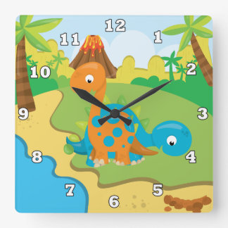 Cute Boys room Dinosaur wall clock