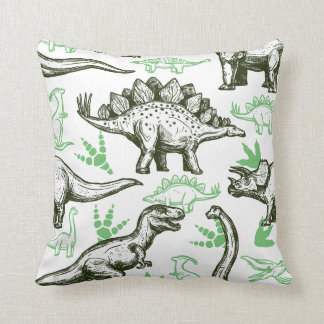 Cute Boys Sketched Dinosaurs Cushion