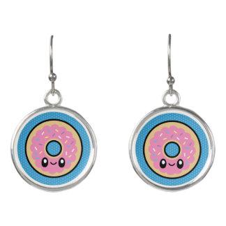 Cute Breakfast Food donut drop earrings