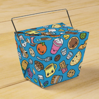 Cute Breakfast Food favor box