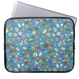 Cute Breakfast Food laptop sleeve