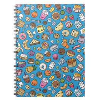 Cute Breakfast Food notebook