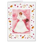 Cute Bridal Shower Bride Wedding Engagement Card
